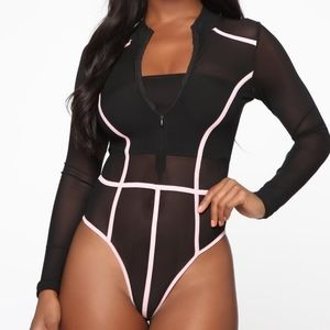 See thru body suit! Black New with tags!